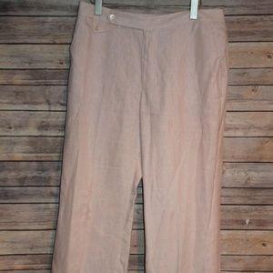 Lauren Ralph Lauren Pinstriped Linen Pants HW3394